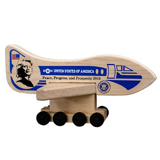 Hilary Clinton Air Force One Holgate Toy Collectible
