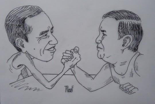 Battle prabowo vs jokowi