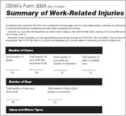 Post OSHA Form 300a Summary of Injuries and Illnesses Now Image