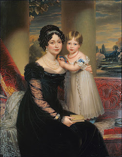The Duchess of Kent and Victoria by Henry Bone, 1824