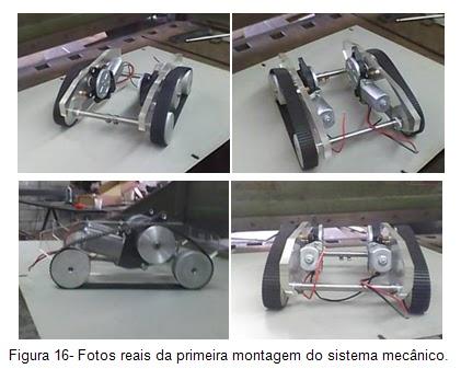 Fotos reais da primeira montagem do sistema mecânico