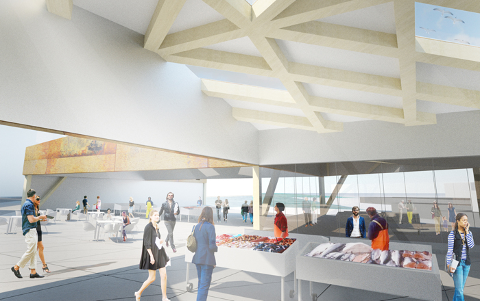 Architecture and design the fish market competition for Fish market design ideas