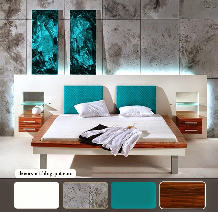 Bedroom decorating ideas turquoise Decorsart