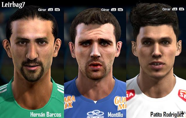 Hernán Barcos, Walter Montillo e Patricio Rodríguez Faces - PES 2013