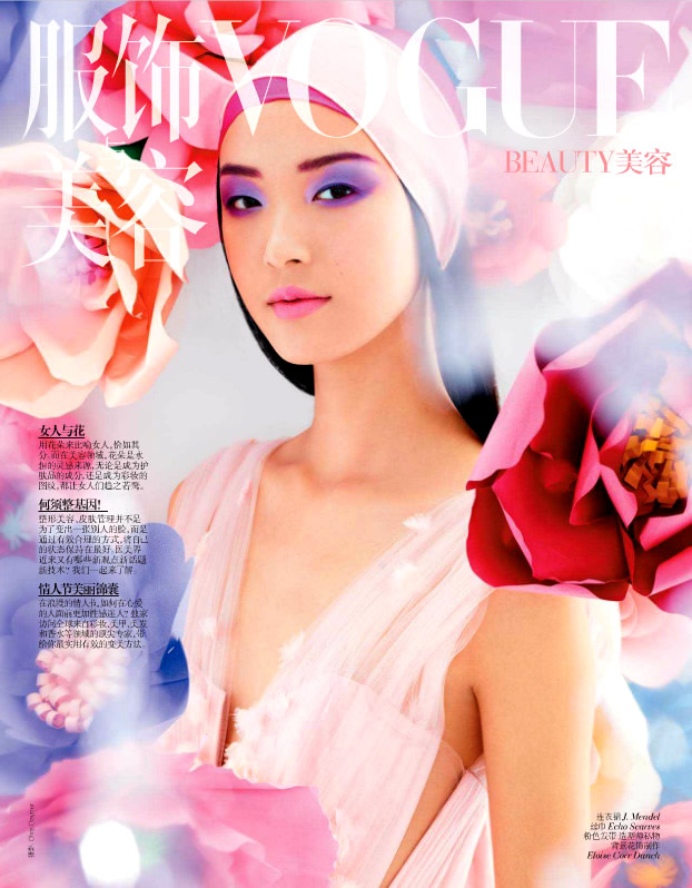 Vogue China Beauty Febraury 2013 Tian Yi Cover Photographed by Chris Craymer Model Tian Yi For Vogue China February 2013 Issue