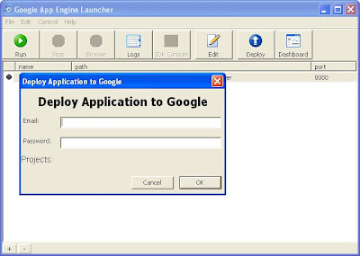 Deploy application to Google