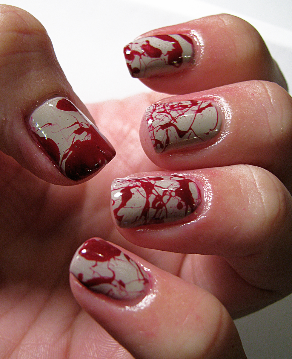 Over The Top Coat: Nail-aween Challenge 3: Bloody Nails