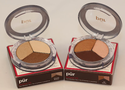 Pur Minerals Eyeshadow Trios Classic Beauty and Jet Setter