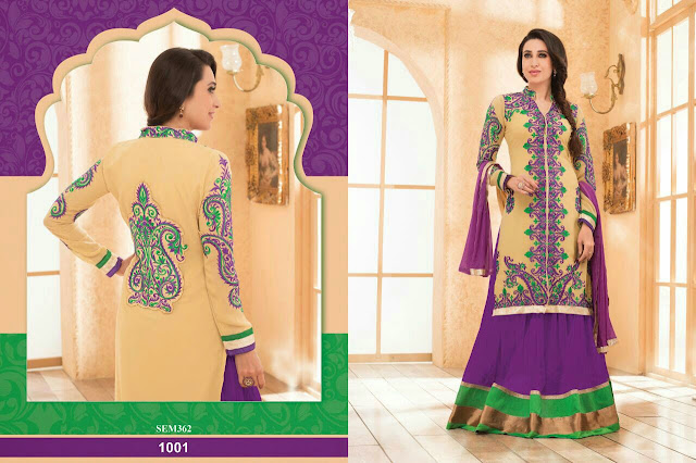Karishma Kapoor Long Embroidered Anarkali Suit