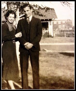 1936 Newlyweds with SHS in far background.