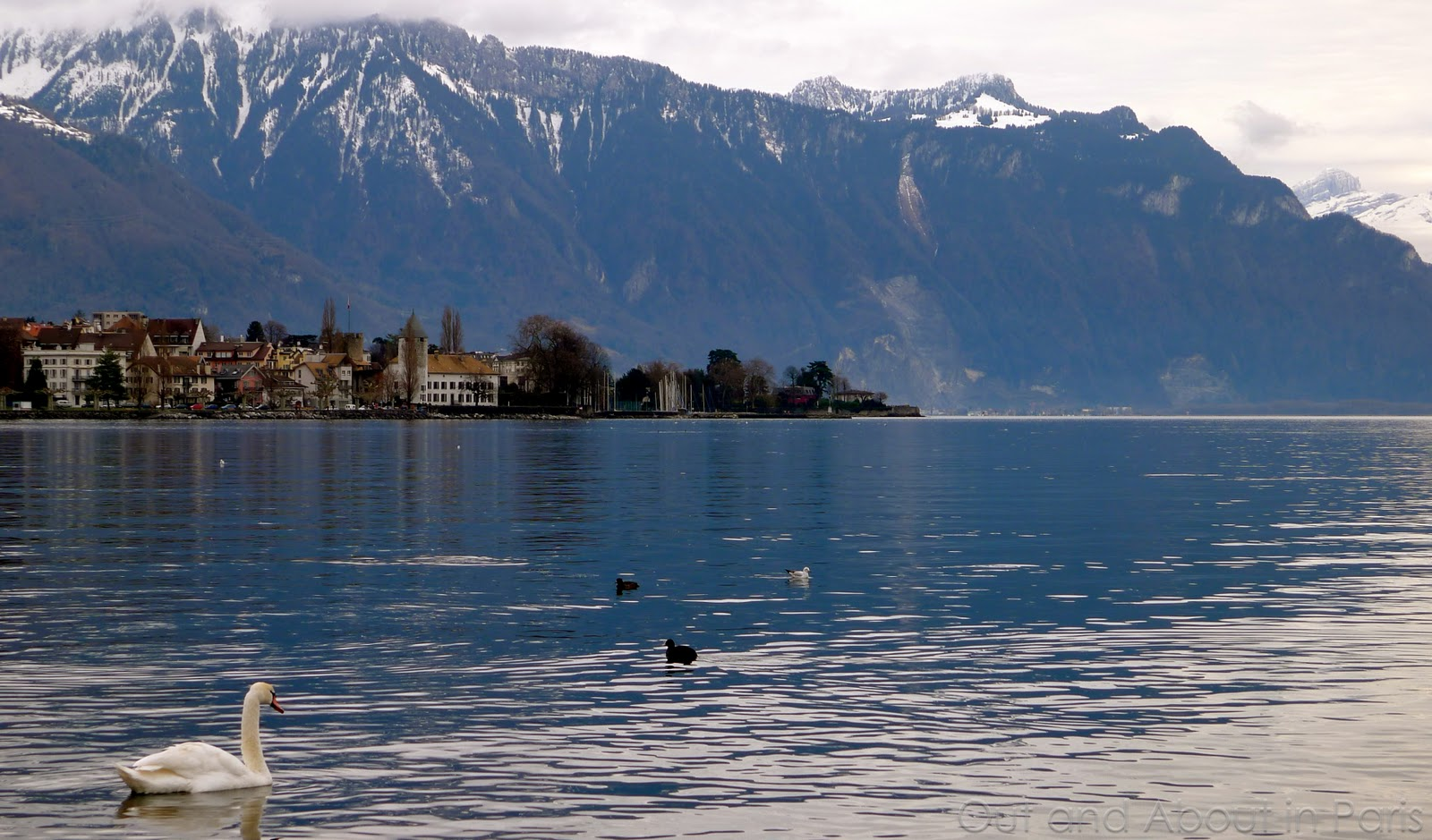 Vevey Switzerland  City new picture : Out and About in Paris: Seen from the shore Vevey, Switzerland