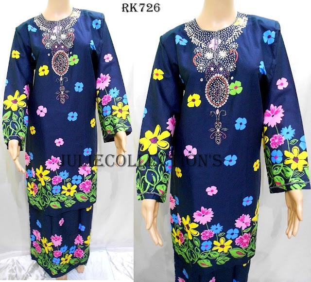Baju Kurung Pahang Cotton Manik
