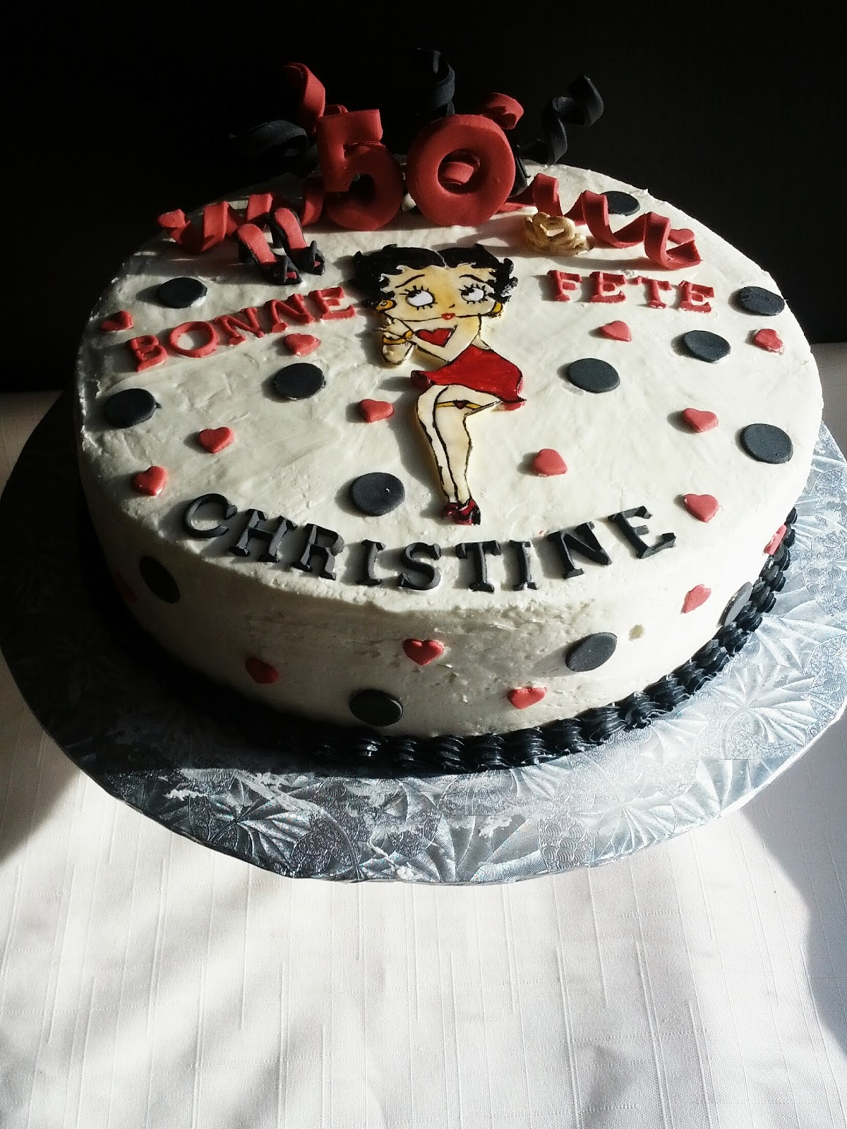 Second Generation Cake Design Betty Boop 50th Birthday Cake