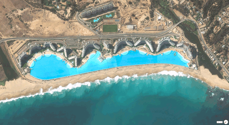 Foto mozzafiato: Cile: Algarrobo - Resort di San Alfonso del Mar