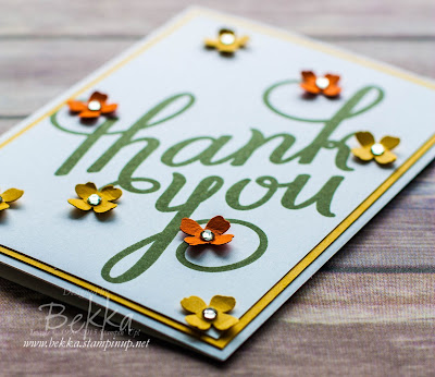 Make in A Moment - An Autumnal Thank You Card