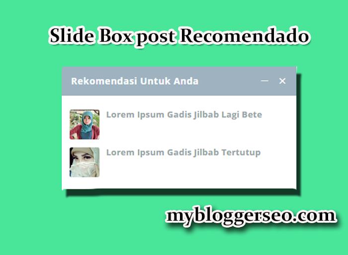 Slide box post recomendado blogger