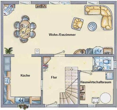 kleines gelbes haus grundriss. Black Bedroom Furniture Sets. Home Design Ideas