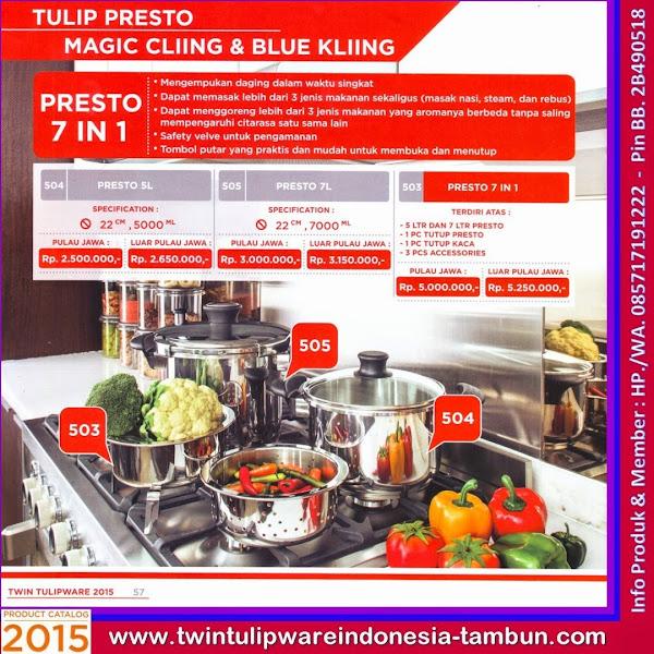 Presto 7 In 1, Panci Tulipware 2015