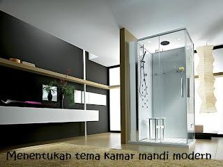 Menentukan tema kamar mandi modern