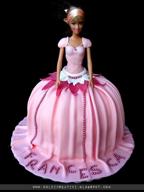Torta principessa barbie