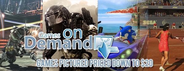 Queda de preço de alguns jogos da Sega no Games on Demand