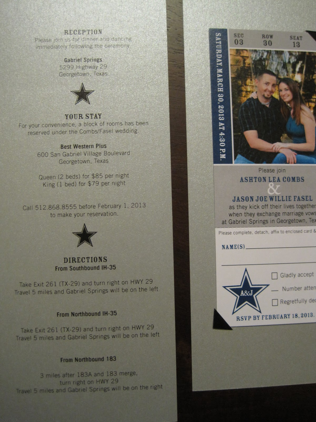 the inviting pear photoblog cowboys ticket as wedding