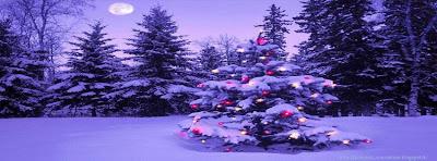 Belle couverture facebook sapin de Noël