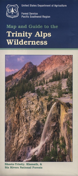 well off the beathen path: Trinity Alps Wilderness Topo Map
