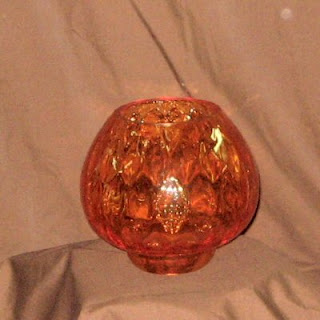 Buy a Large Orange Glass Votive Bowl