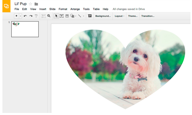 how to make images go over table borders google docs