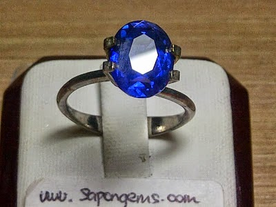 4,19ct NATURAL ROYAL BLUE SAPPHIRE harga LAMA!