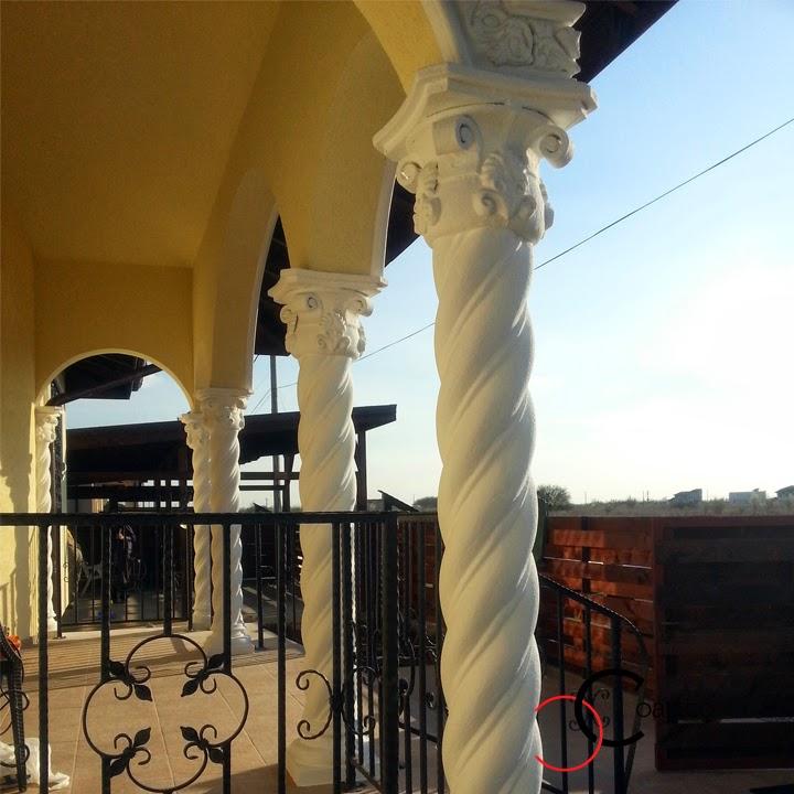 Coloane Spiralate din Polistiren, Fatada Casa Balotesti