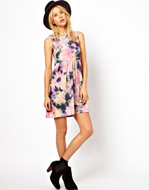 ASOS tie dye print dress