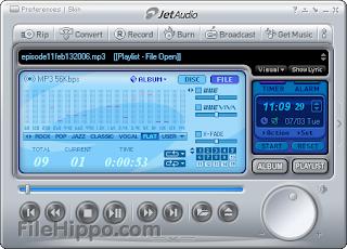 تحميل برنامج جيت اوديو 2013 مجانا Download JetAudio Free