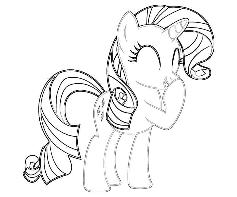 My Little Pony Coloring Pages Baby Rarity : Free coloring pages of rarity