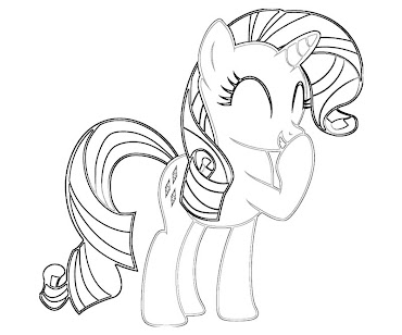 #4 Rarity Coloring Page