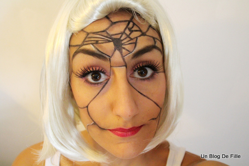 Un blog de fille halloween makeup poup e cass e avec - Maquillage poupee halloween ...