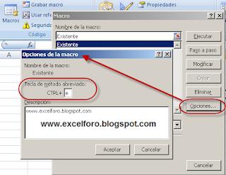 Cómo asignar un acceso directo o método abreviado a una macro existente.