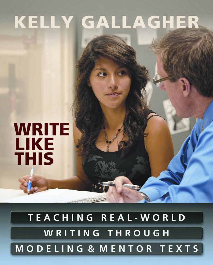 http://www.amazon.com/Write-Like-This-Teaching-Real-World/dp/1571108963/ref=sr_1_1?s=books&ie=UTF8&qid=1416499542&sr=1-1&keywords=kelly+gallagher+write+like+this