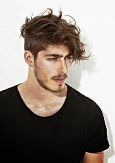 styling långt hår man