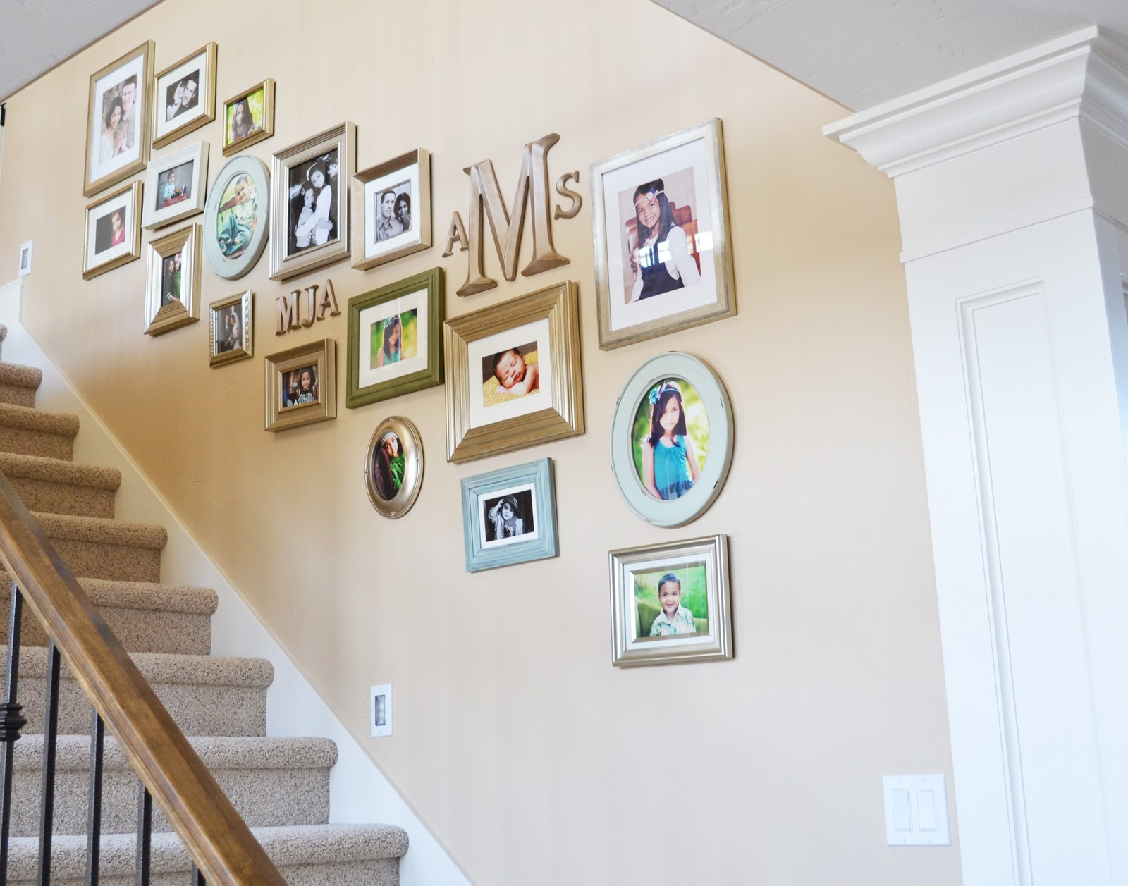Sita Montgomery Interiors Staircase Gallery Wall