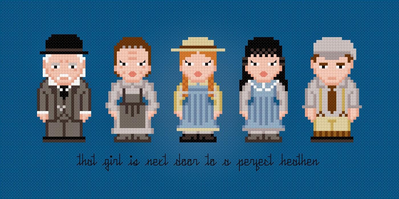 Anne of Green Gables - Cross Stitch PDF Pattern Download