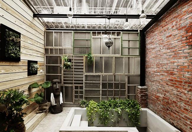 Estilo rustico casa rustica en taiwan for Casa moderna tipo loft