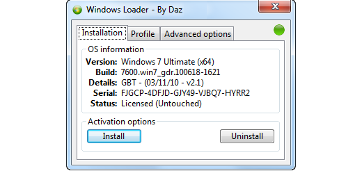 Windows Loader v2.0.6-DAZ