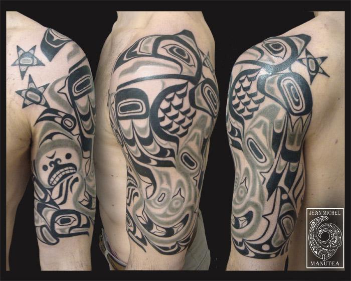 tatouage polynesien polynesian tattoo january 2013. Black Bedroom Furniture Sets. Home Design Ideas