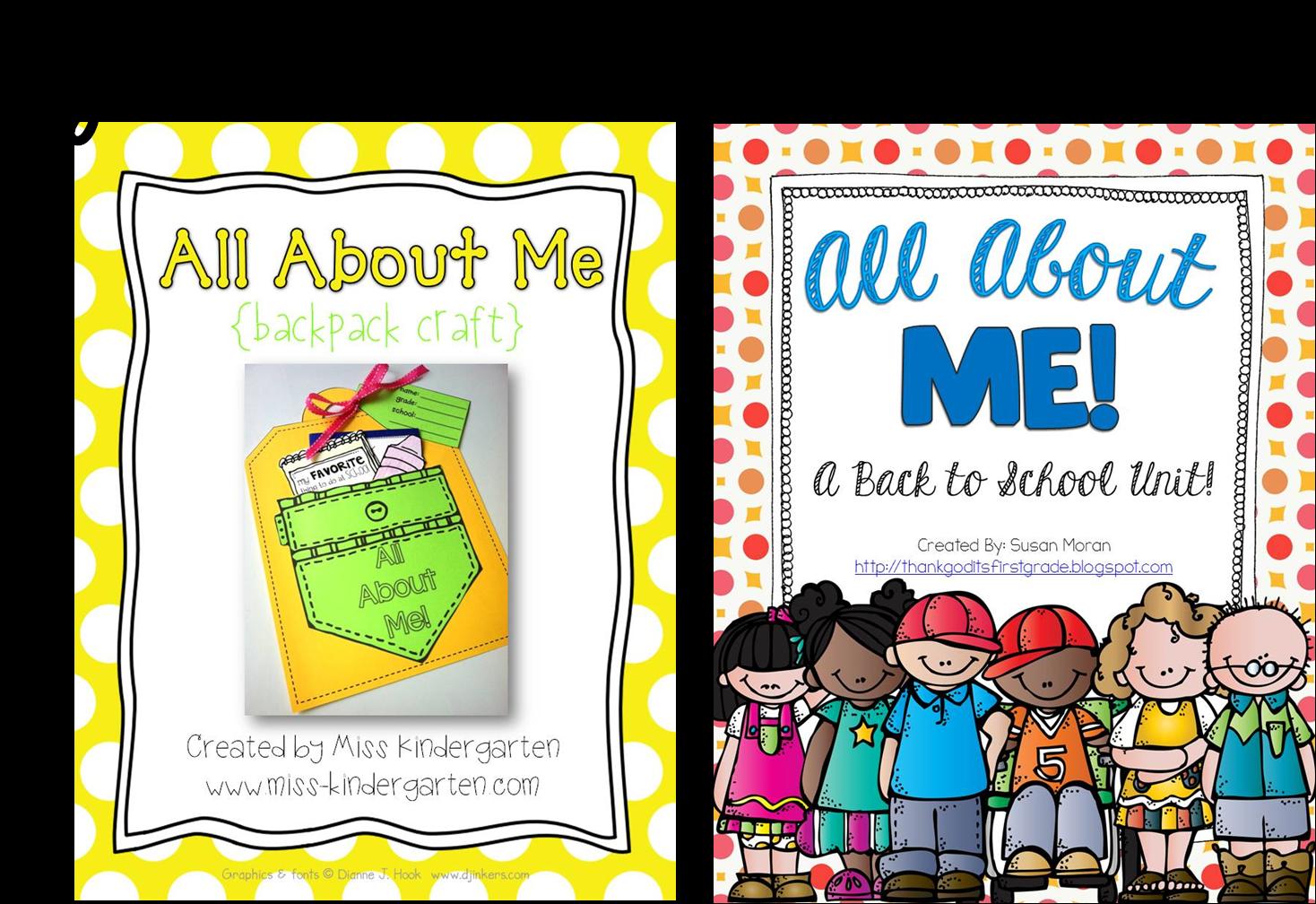 all about me craft a giveaway miss kindergarten. Black Bedroom Furniture Sets. Home Design Ideas