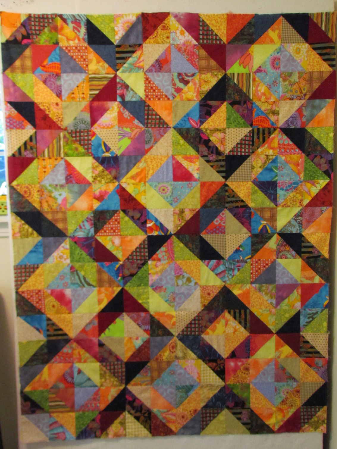 Hst Triangle Quilts Stairway Wall Fmfmini Triangles