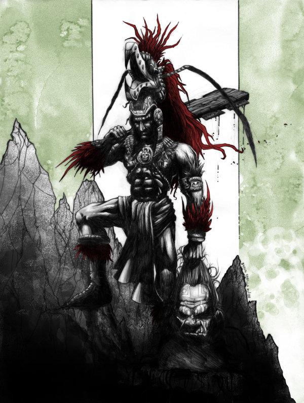 Aztec Warrior Pictures O guerreiro morto e pegou