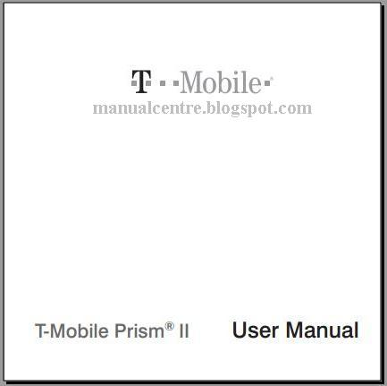 T-Mobile Prism II Manual Cover