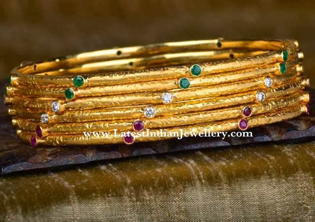 Designer Gold Bangle Set